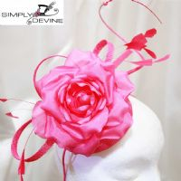 Fuchsia pillbox fascinator SN1287